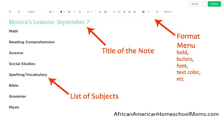Creating Lesson Plans Using Evernote African American Homeschool
