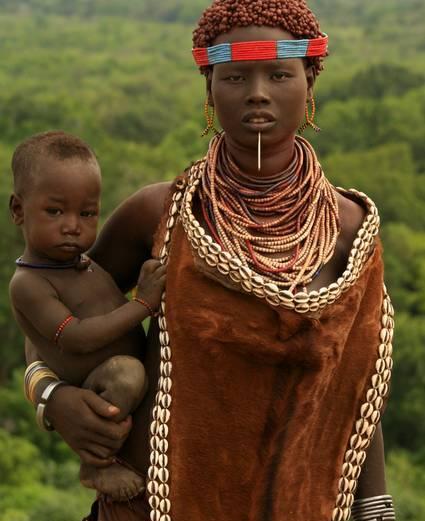 Ethiopian Tribal Mother & Child