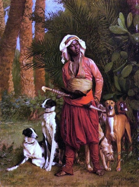 Jean-Leon Gerome The Negro Master of the Hounds