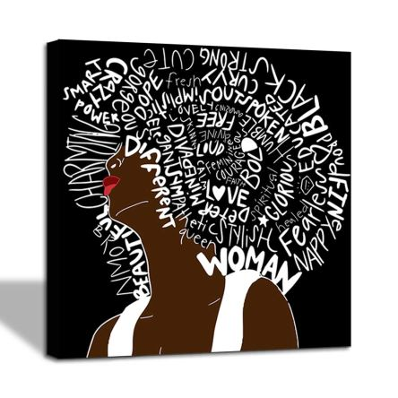 African American Women Letter Art Hair