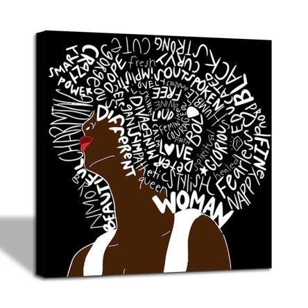 African American Women Letter Art Hair