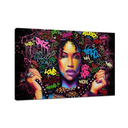African American Girl Decor Decal Graffiti