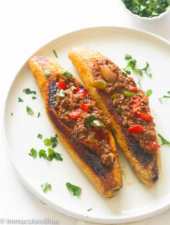Plantains Stuffed with Beef