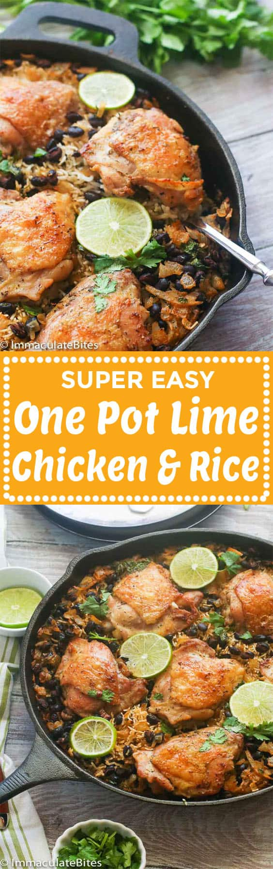One pot lime chicken and rice.