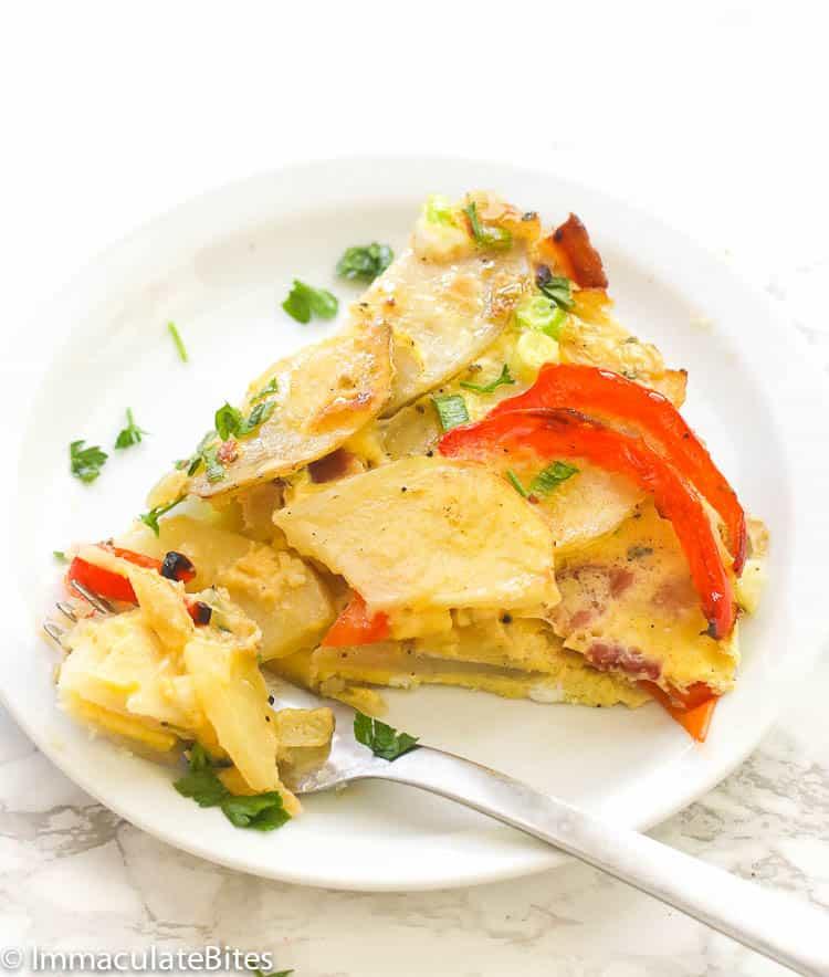 Slice of Potato Fritttata