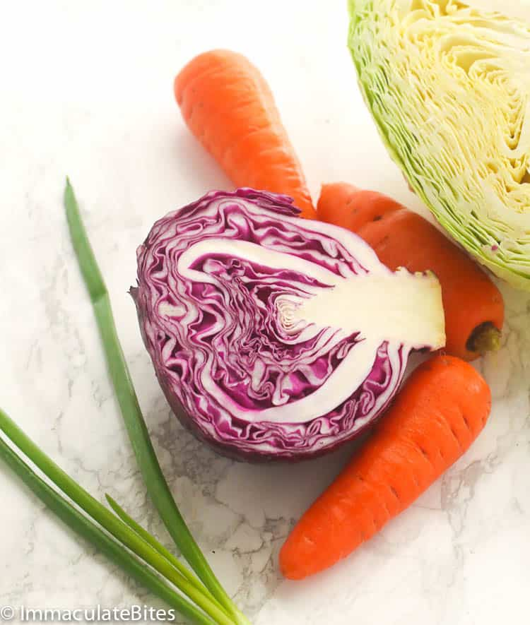 Vinegar Coleslaw Ingredients