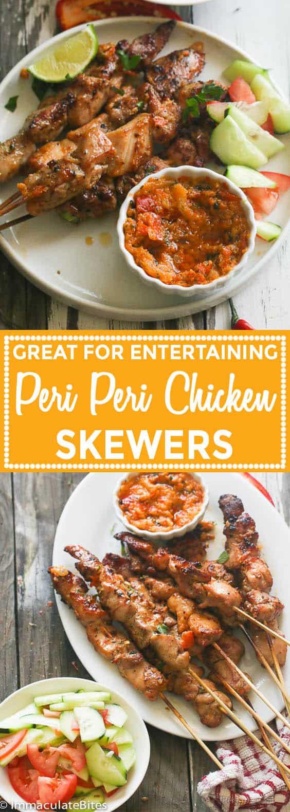 Peri Peri Chicken Skewers