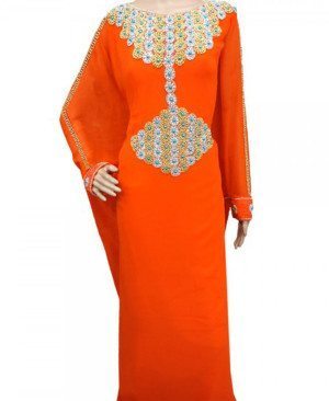 Women Style Kaftan With Zari Work