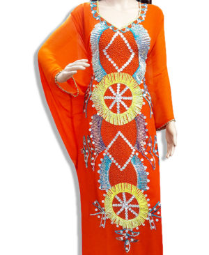 African Georgette Party Wear Kaftan