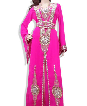 Zari Georgette Crystal Work Kaftan