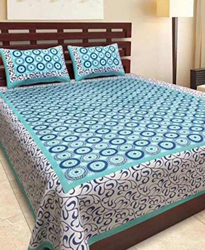 100% Cotton Rajasthani King Size Bedsheet
