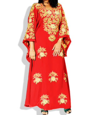 Chiffon Shining Exclusive Embroidery Kaftan