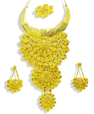 Golden Look Bridal Necklace Set