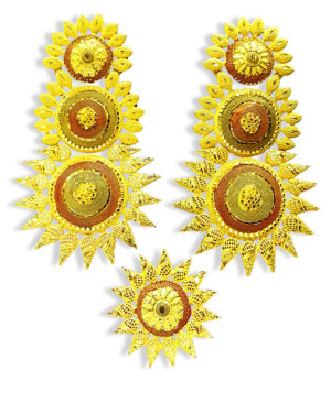 Marigold Design Golden Plated Earring