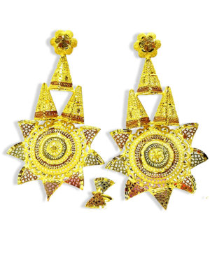 Golden Plated Star Design Earring Set