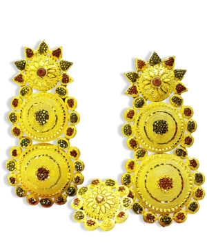 Big Design Golden Plated Earring Set