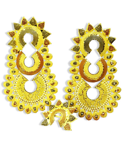 Traditional Golden Plated Earring Set