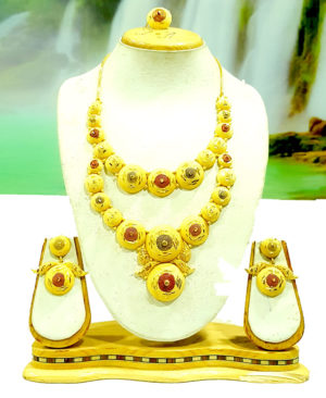 Traditional Coin Golden Plated Necklace Set