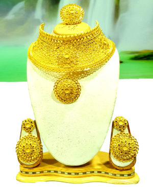 Bridal Chokar Design Gold Plated Fancy Necklace