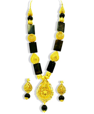 Fancy Beads Golden Plated Necklace Set