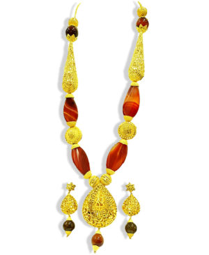 African Boutique Beads Golden Plated Necklace Set