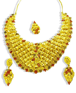 Golden Plated Traditional Chokar Necklace Set