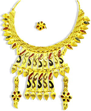 Best Design Golden Plated Necklace Set
