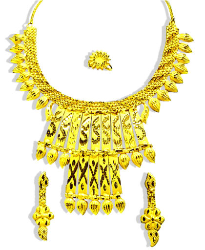Gold Plated Hand Made Choker Design Necklace Set