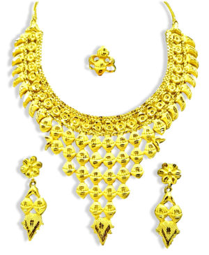 Ramleela Style Golden Plated Necklace Set