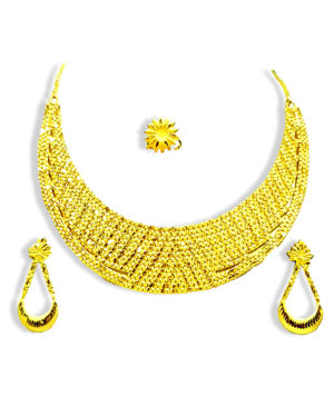 Gorgeous Designer Gold Plated Necklace Set