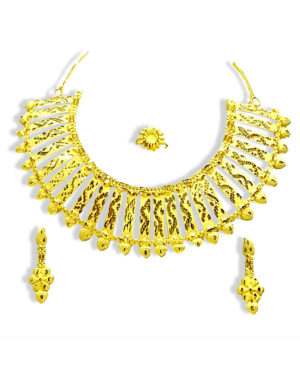 Jewels Galaxy Alloy Gold Plated Necklace Set