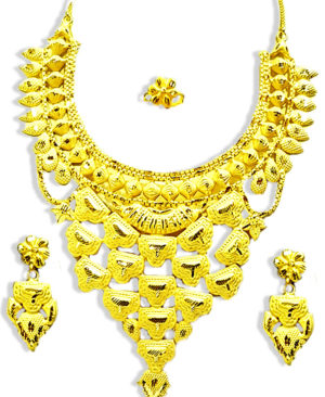 Trendy Gold Plated Necklace Set
