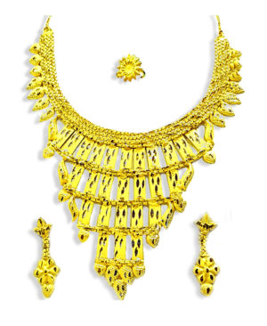Exclusive Gold Plated Necklace Earrings Set