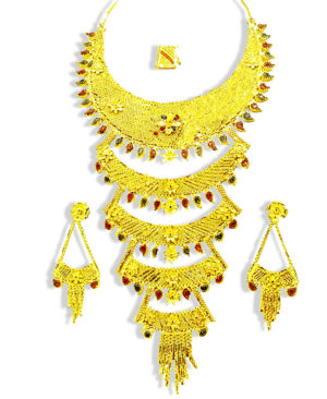 Latest Collection Golden Plated Necklace Set