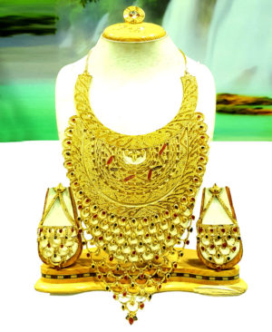 Bridal Design Best Golden Plated Necklace Set