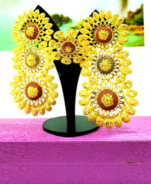 Best Designer Golden Plated Earring Set