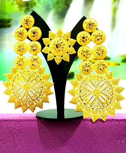 Good Designs Golden Plated Earring Set