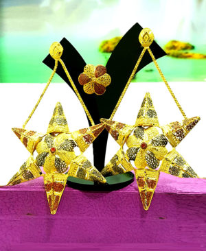 Golden Plated Star Shape Earring Set