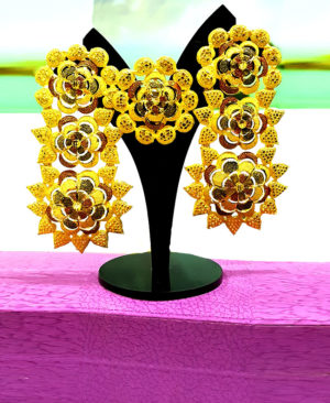Designer Gold Plated Earrings Designs Set