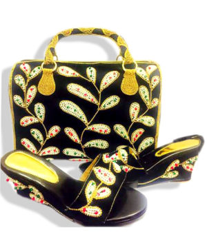 Beautiful Ladies Sandal with Matching Bag