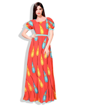 Printed Silk Wax Unstitched Dress Material (20493)