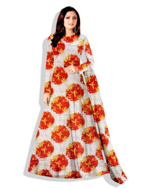 Printed Silk Wax Unstitched Dress Material (20495)