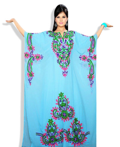 Beautifully moroccan embroidered kaftan dress