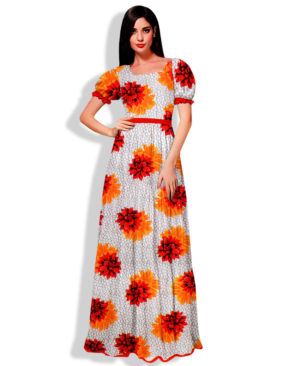 Printed Silk Wax Unstitched Dress Material (20490)