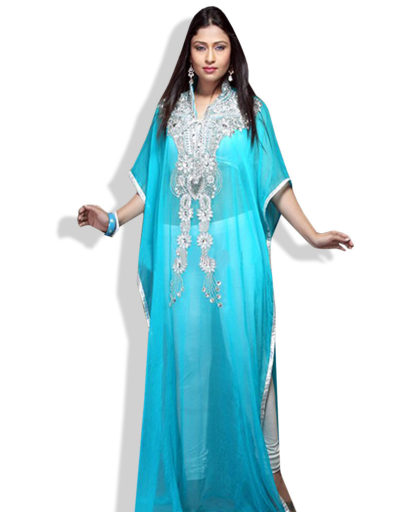 Royal Blue Party Kaftan for African Arabian Women
