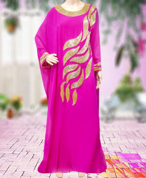 Golden Beaded Fashion Womens Kaftan