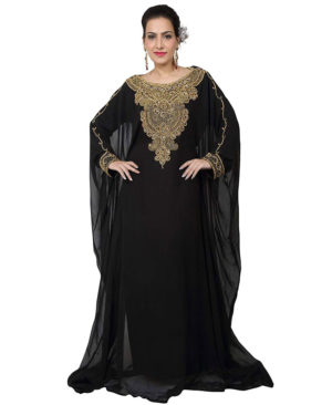 Women's Dubai Style Farasha Jalabiya Abaya Long Maxi Dress