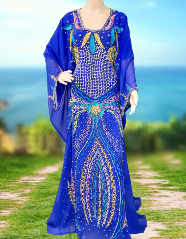 Dubai Modest Kaftan Long Gowns Formal Abaya Arabian Plus Size Bridesmaid Caftan
