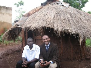 Kibwika with me (Kunle) at his hut (2008)