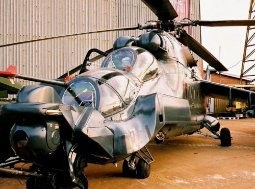 Super Hind MkIII, photographed at Africa Aerospace and Defence 2004. DARREN OLIVIER/ADR